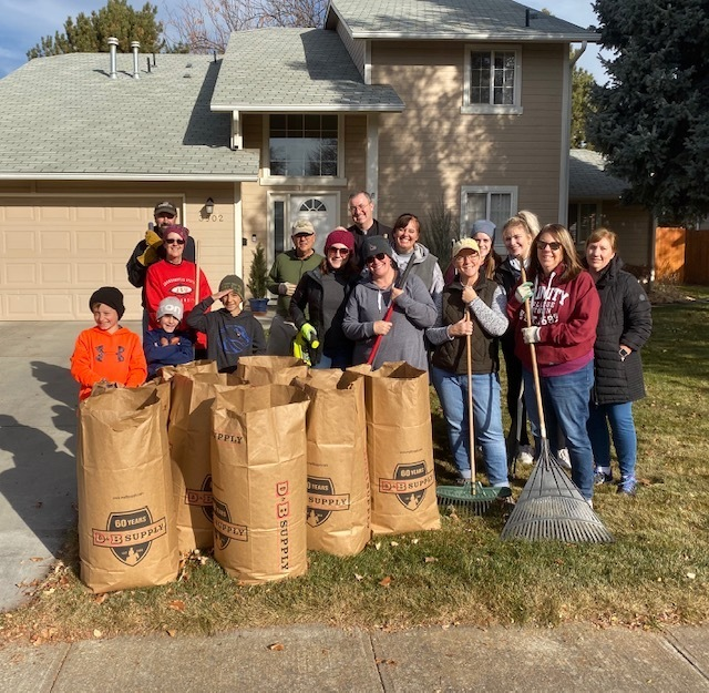 "Sacred Heart Campus Ministry and Staff Help ""Rake Up"" Boise"