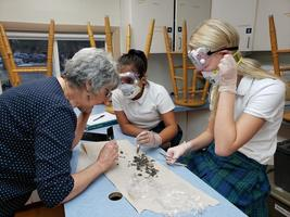 Sacred Heart 5th Graders Dissect Owl Pellets