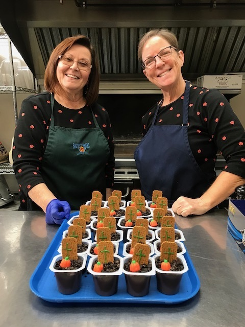 Our lunch ladies served up a spooktacular treat today!!